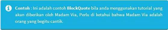 Cara Membuat BlockQuote Keren Di Blog