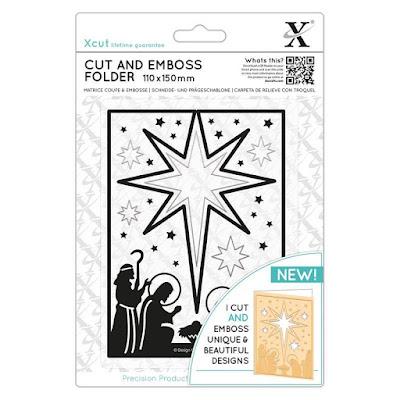 Cut & Emboss folder - Nativity Star Aperture