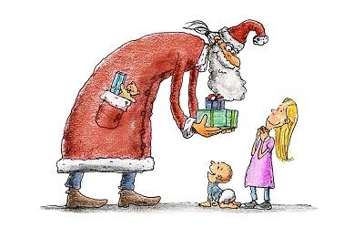 Tema sul natale per scuola elementare con consigli e - Babbo natale porta i regali ai bambini ...