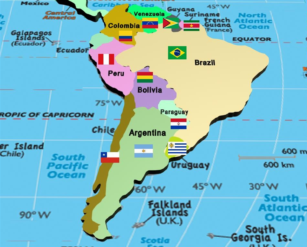 Manash subhaditya edusoft world atlas and geography linked to south america continent with country and their flags created by me gumiabroncs Choice Image