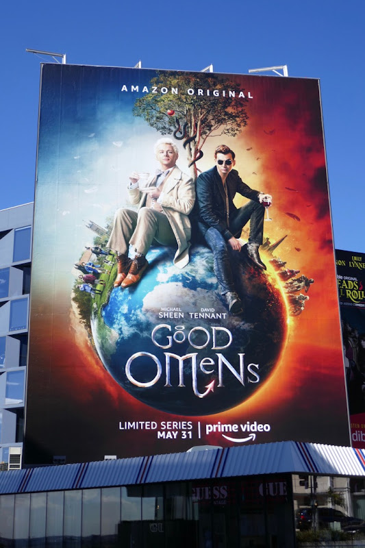 Giant Good Omens series premiere billboard