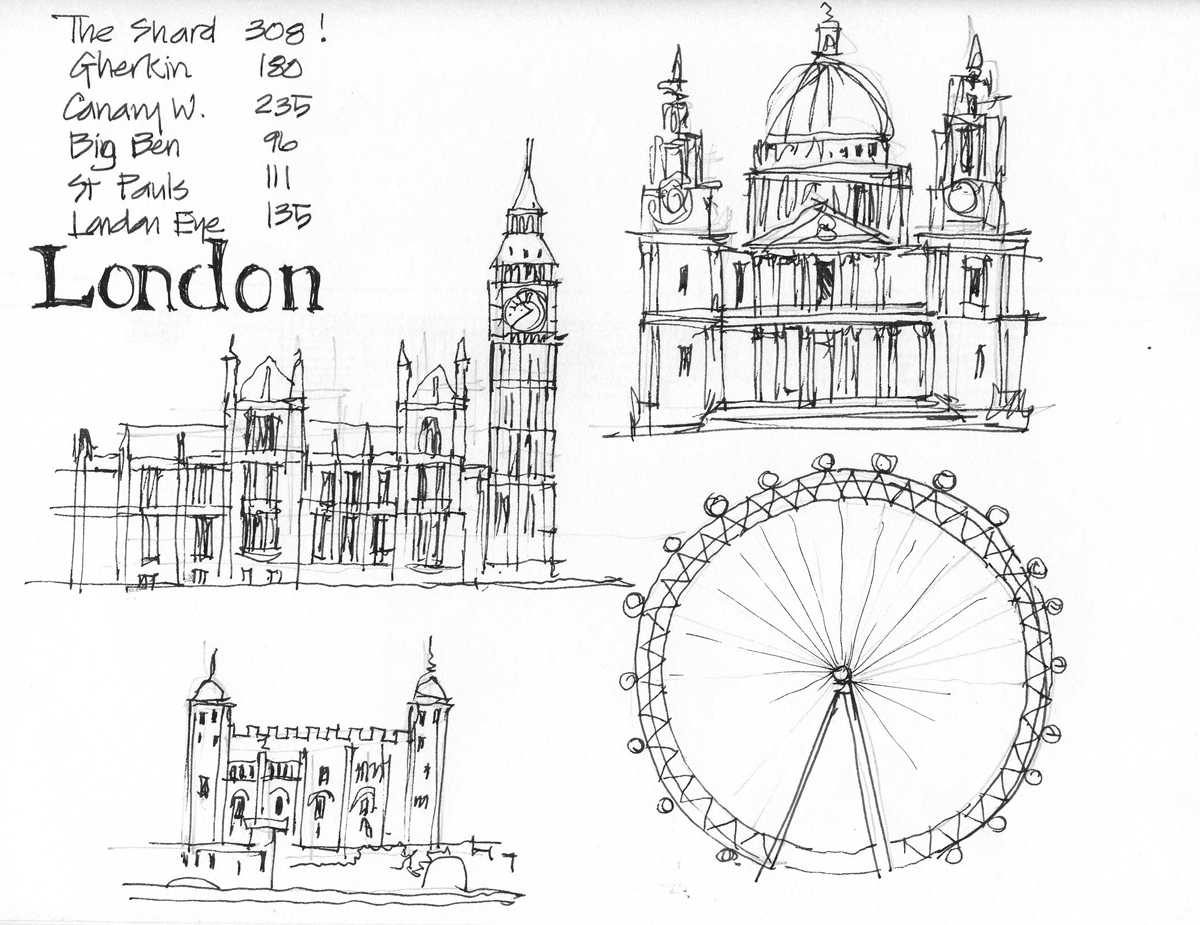 London Sketches And Bcn Colours