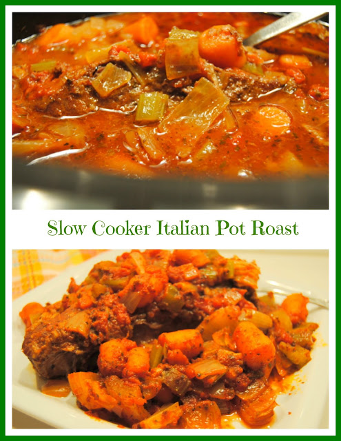 Slow Cooker Italian Pot Roast at Miz Helen's Country Cottage