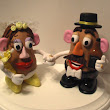 Mr. and Mrs. Potato Head Cake Topper Going Down Under