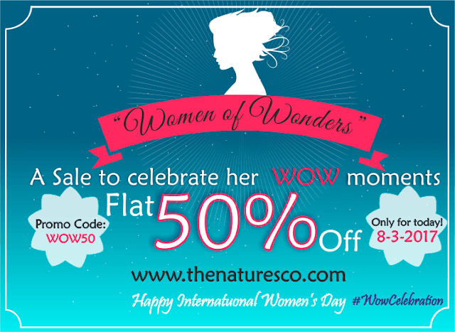 The Nature's Co. Women's Day Offer - FLAT 50% Off