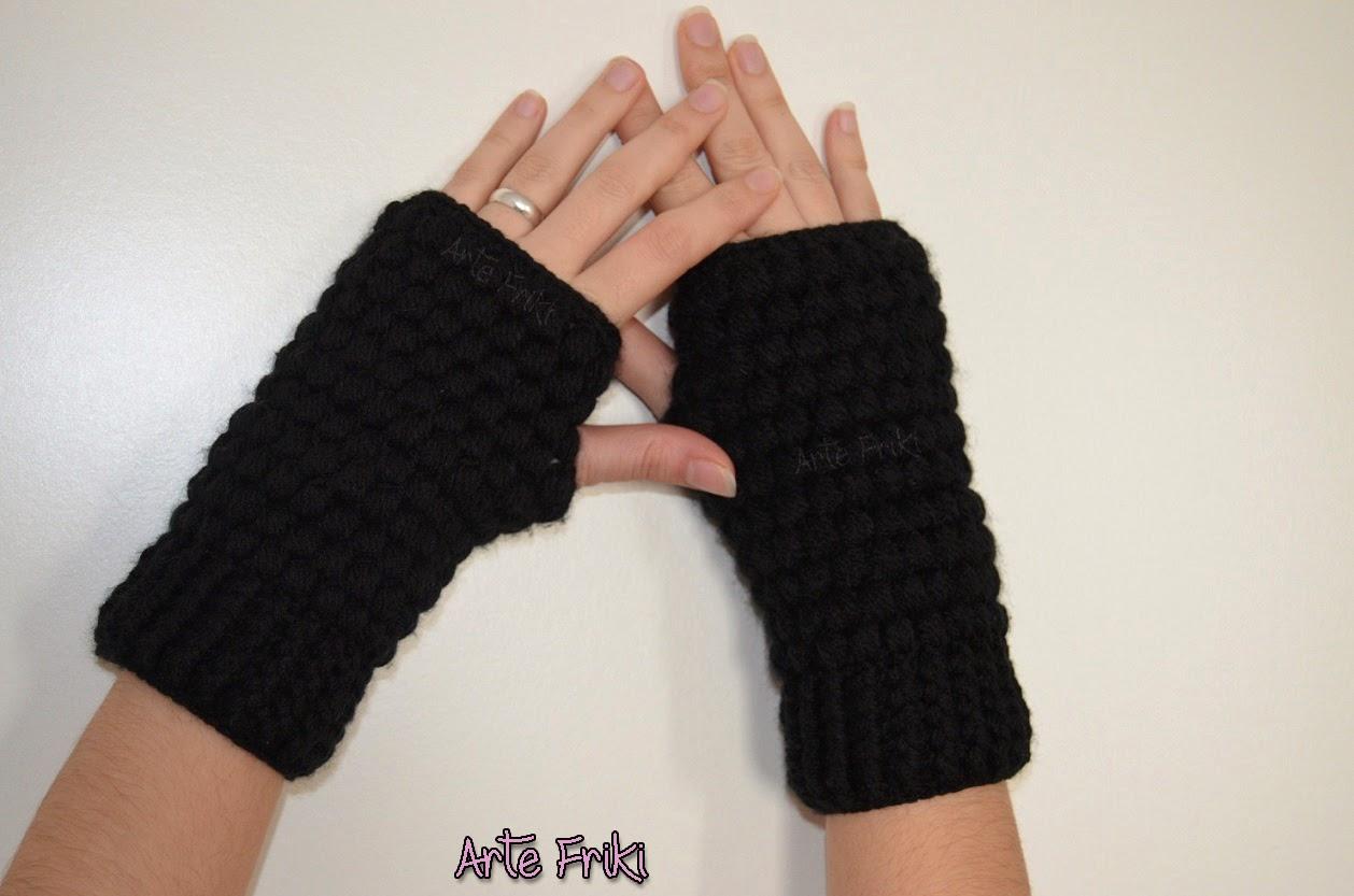 8cc7cf278491 Mitones a Crochet - Arte Friki