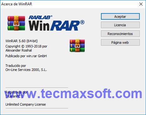 WinRAR v5.6 2018 Full Gratis 32 y 64 Bits