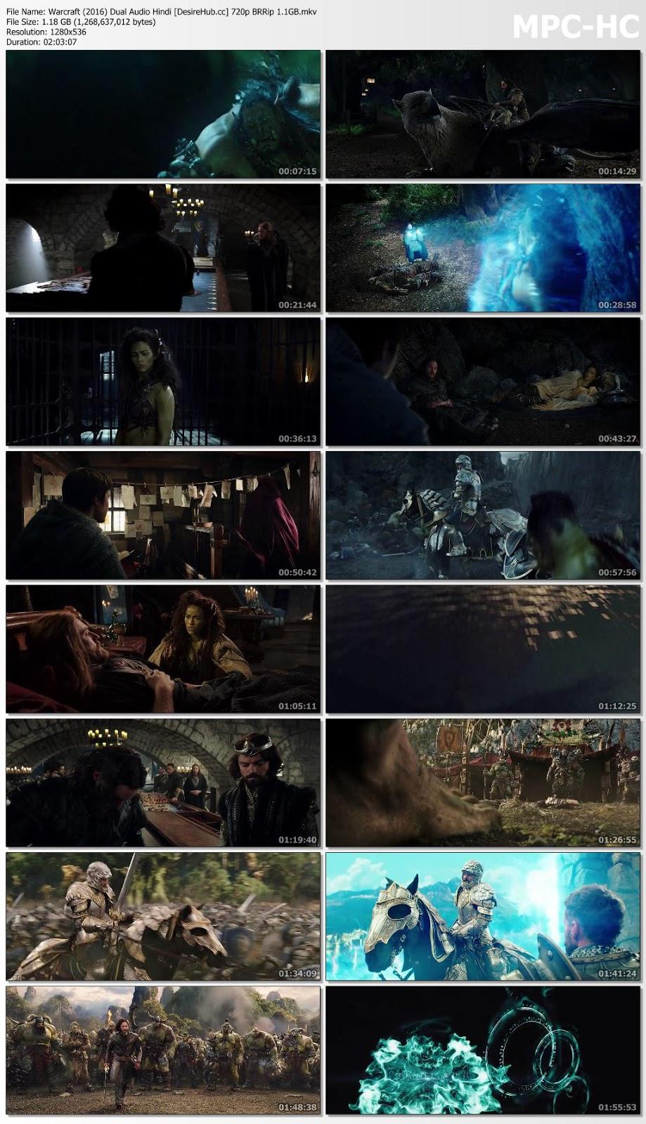 Warcraft (2016) Dual Audio Hindi 720p BRRip 1.1GB Desirehub