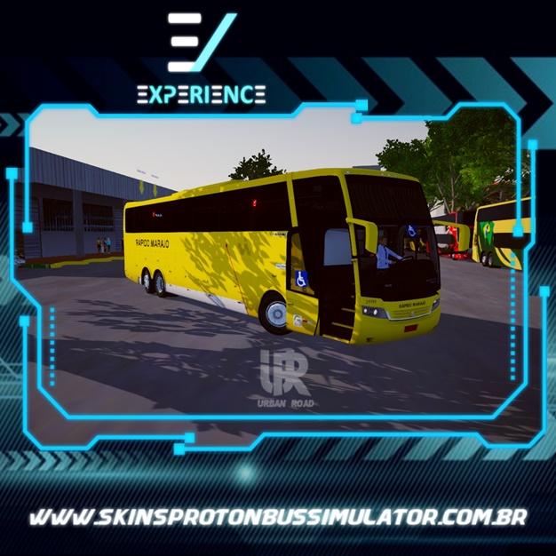Skin Proton Bus Simulator Road - Jum Buss 380 Scania K380 6X2 Rápido Marajó