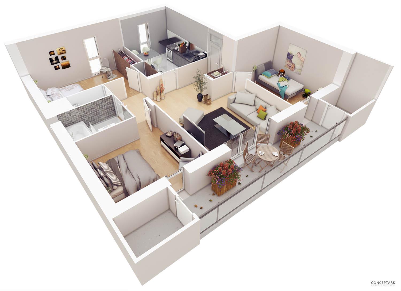 20 Genius Good Floor Plans living room list of things House Designer