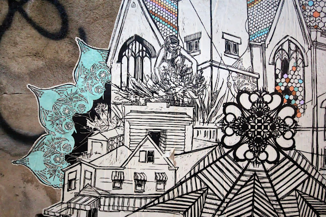 Street Art By American Artist Swoon On the streets of East London, UK. 4
