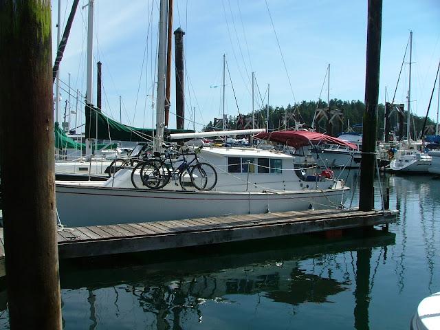 Rosey in her slip at Friday Harbor marina