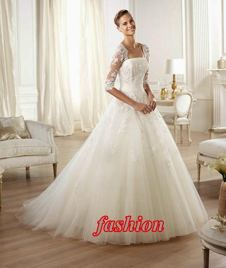 0bd712fffd3e1 كولكشن فساتين زفاف برونوفياس 2014