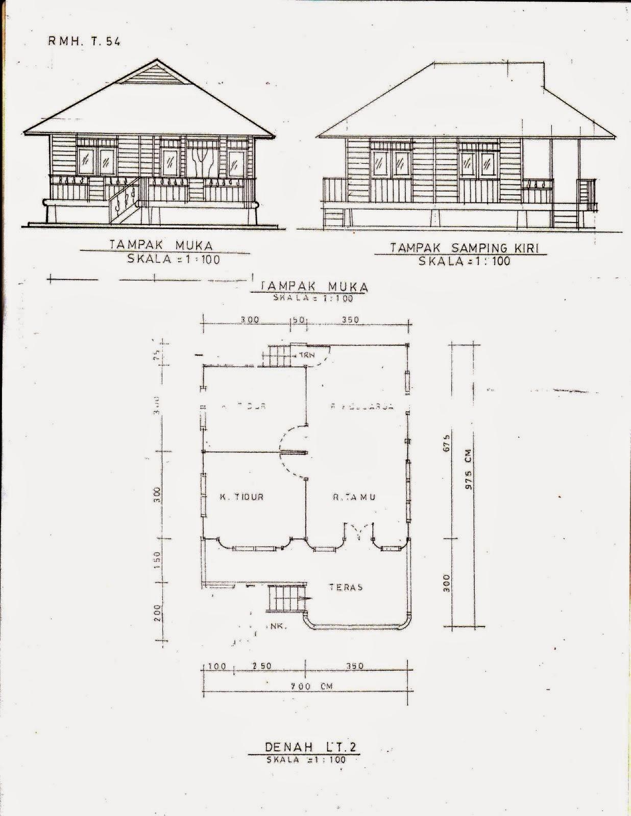 Contoh Desain Rumah Panggung Cek Bahan Bangunan