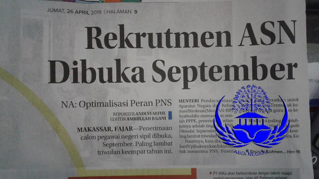 Rekrutmen ASN Dibuka September