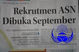 Rekrutmen ASN Dibuka September