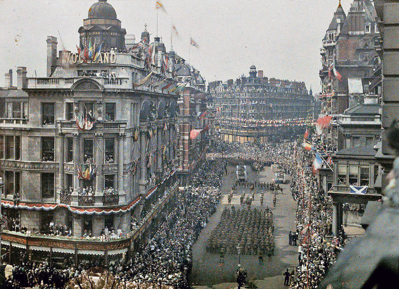 Wwi Victory Parade Knightsbridge London 1919 Vintage