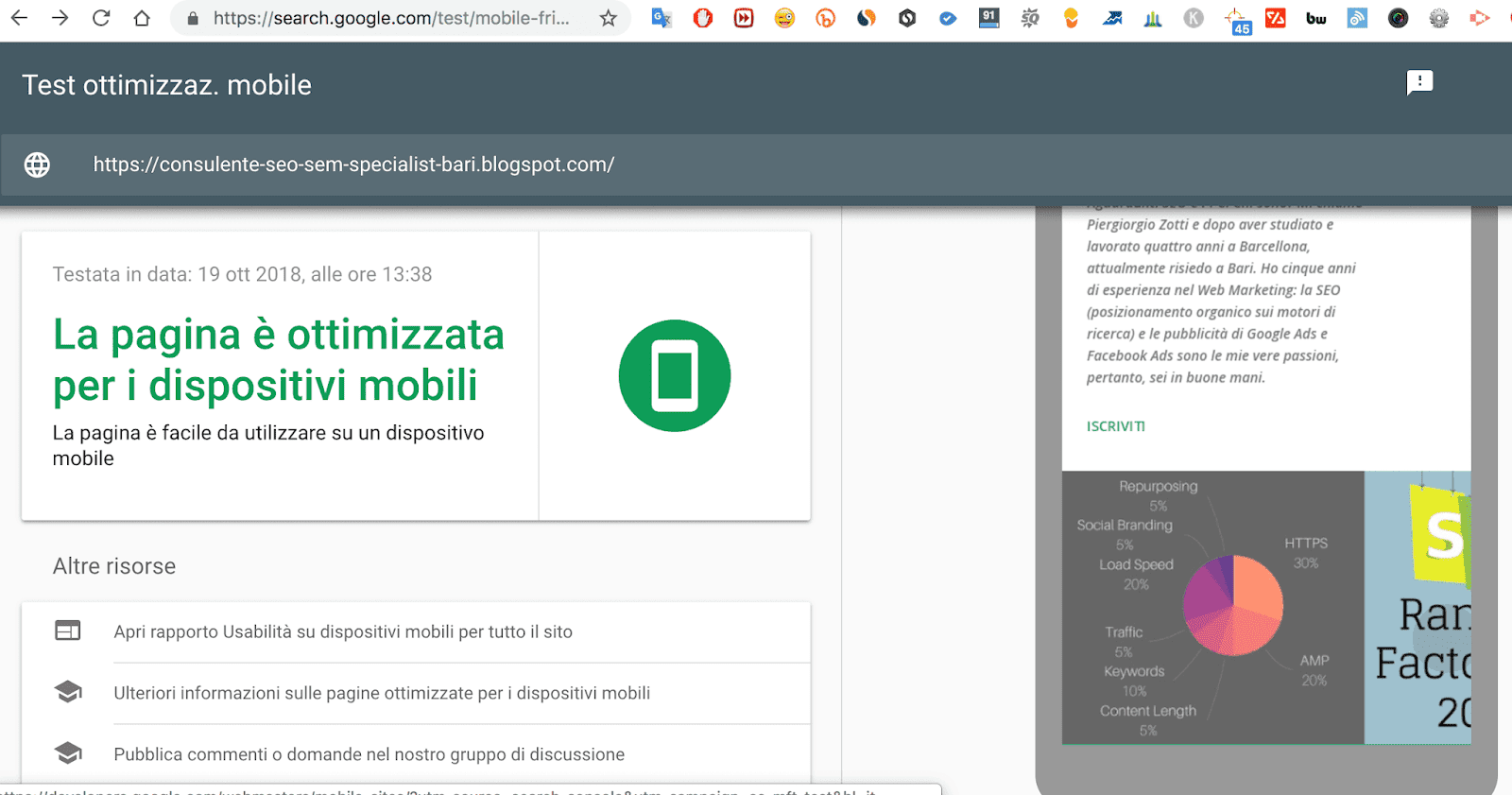 google mobile test SEO tool gratis