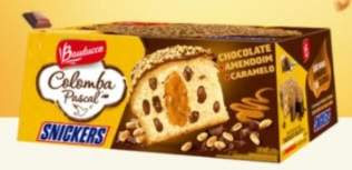 Nova Colomba Pascal Bauducco Chocolate Snickers Páscoa 2018 Lançamento