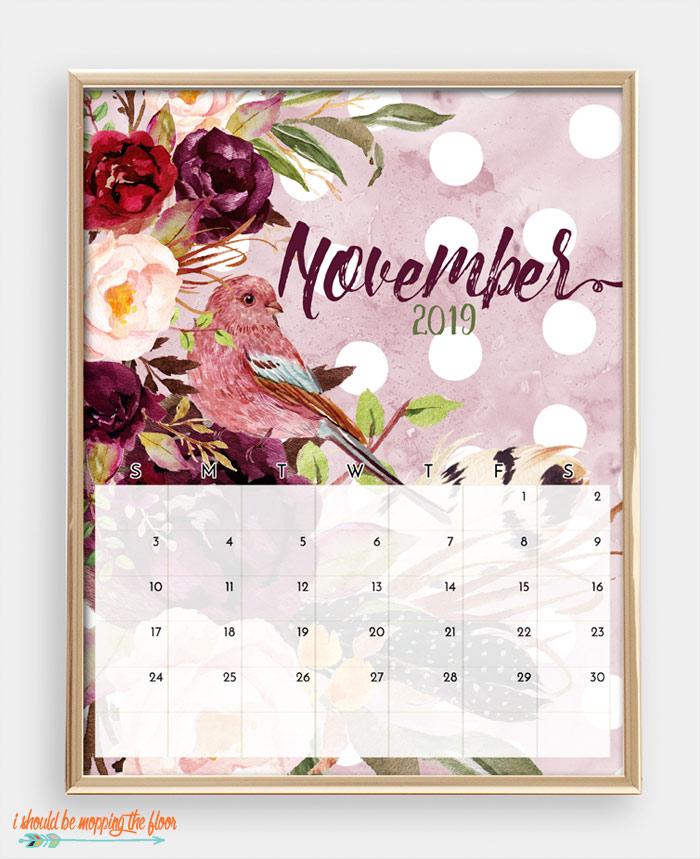 November Bird Calendar