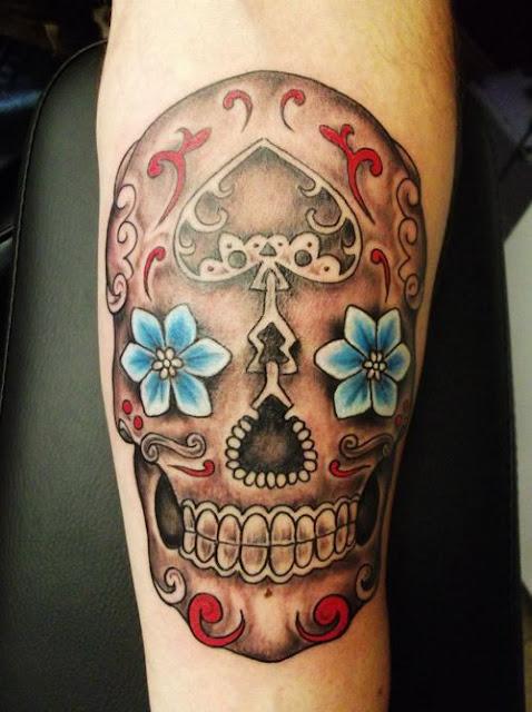 tatuagem-caveira-mexicana