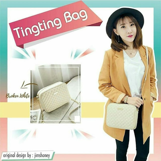 Jims Honey Ting Ting Bag White