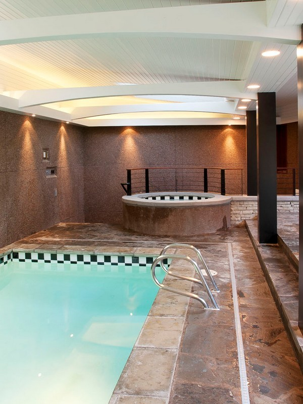 Picture of indoor pool and the jaccuzzy