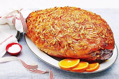 Almond and marmalade glazed ham  meal ideas