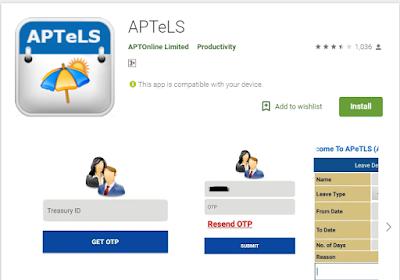 APTelS App Updated- Download latest 1.6 Version for AP Teachers online Leave System