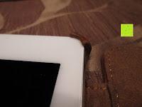 Ecke: Leicke MANNA Schutzhülle Apple iPad Air 2 braun