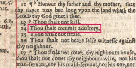 Error tipográfico en la Biblia