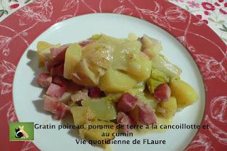 Vie quotidienne de FLaure: Gratin poireau, pomme de terre à la cancoillotte et au cumin