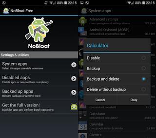 menghapus aplikasi default android