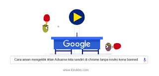 aman klik iklan adsense kita sendiri di chrome