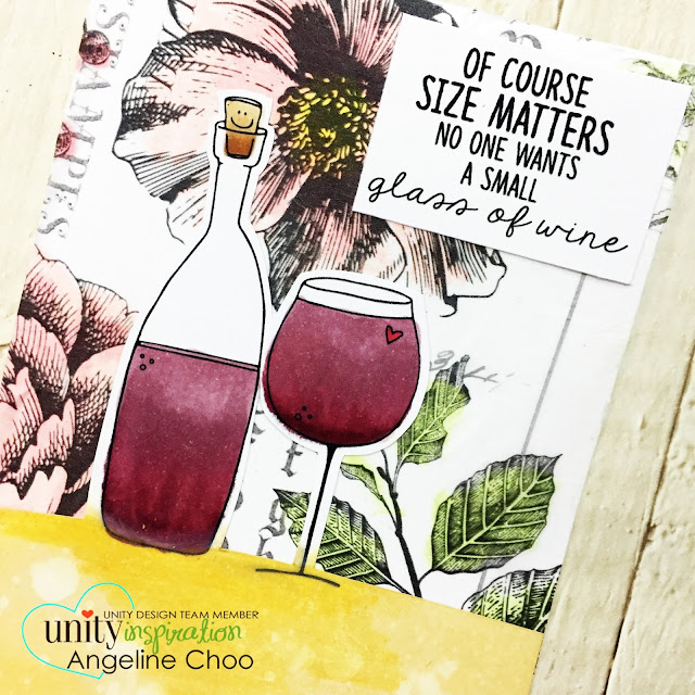 ScrappyScrappy: [NEW VIDEOS] March Unity Stamp Blog Hop - Drink Wine Feel Fine #scrappyscrappy #unitystampco #card #cardmaking #youtube #quicktipvideo #distressoxide #timholtz #timholtzideaology #timholtzcollage #wallpaper #collagepapers #creativedevotion #gelcrayons #copicmarkers