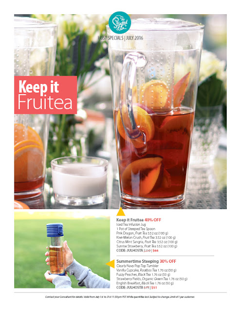 Keep it Fruitea by booking a Steeped Party in July