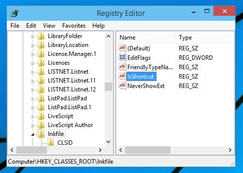 Cara Menghilangkan Tanda Shortcut pada windows 10 dan windows 8