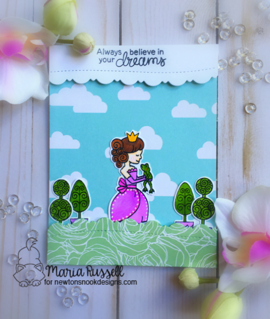 Princess Card by Maria Russell | Once Upon a Princess stamp set by Newton's Nook Designs #newtonsnook #princess #handmade