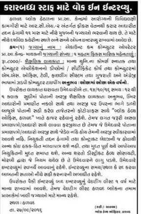 Primary Health Centre, Halvad Recruitment for Accountant cum Computer Operator Post 2016