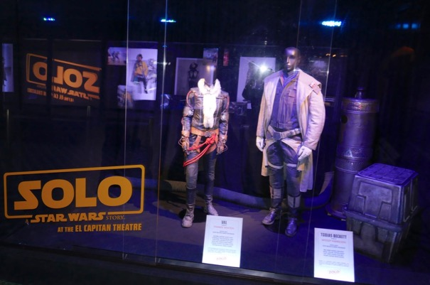 Solo Star Wars movie costume exhibit