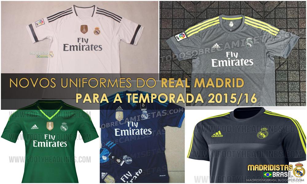 Uniformes do Real Madrid para a Temporada 2015 16  50b6bacaa0a09