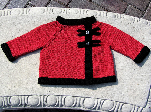 Peach Blossom Baby Jacket - Free Pattern