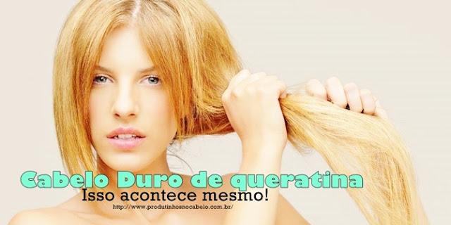 cabelo duro de queratina