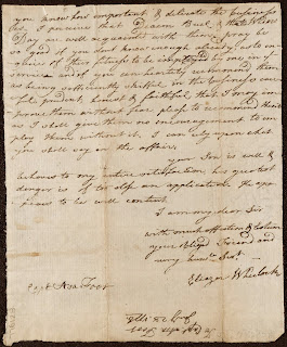 The last page of a handwritten letter, signed by Eleazar Wheelock.