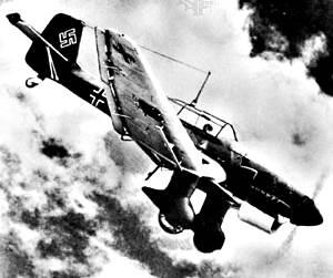 """Alemán Junkers Ju 87 """"Stuka"""" buceo-bombardero."""