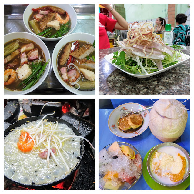 Vietnamese dishes tried on the Back of the Bike Street Food Tour of Ho Chi Minh City Vietnam
