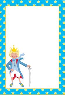 Para hacer invitaciones, tarjetas, marcos de fotos o etiquetas, para imprimir gratis de El Principito.