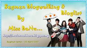 Segmen Blogwalking & Bloglist By Miss Banu