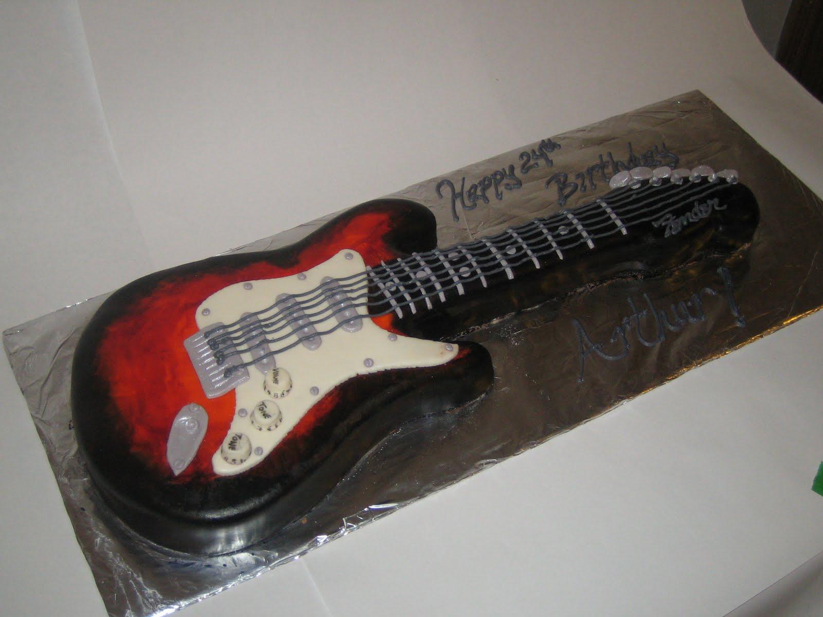 sweet simple custom cake design guitar cake. Black Bedroom Furniture Sets. Home Design Ideas