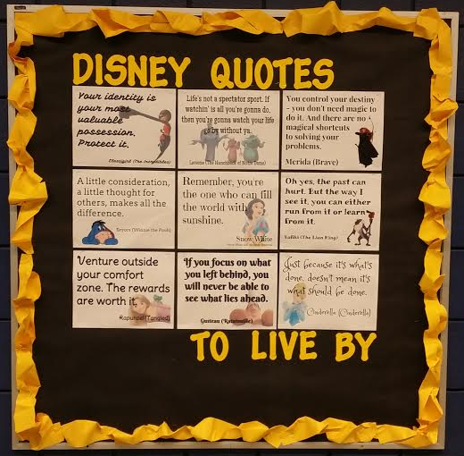 By Disney Quotes And Found There Are SO MANY OF THEM Click Here To See The List That I Used So With Help Of Google Drawings Research Tool
